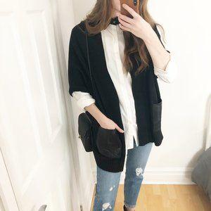 Suncoo Paris Gallie Black Cashmere Blend Knit Vest